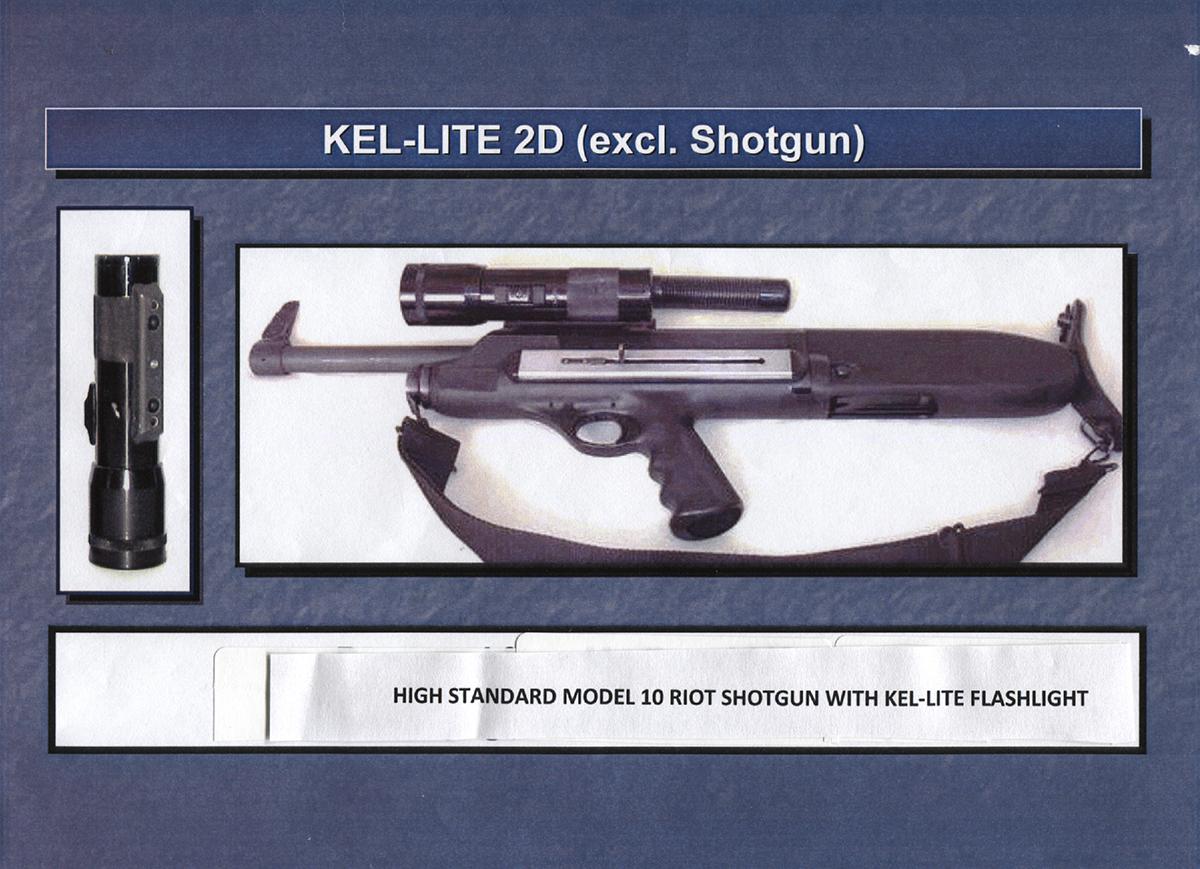 Shotgun with Kel-Lite Mounted